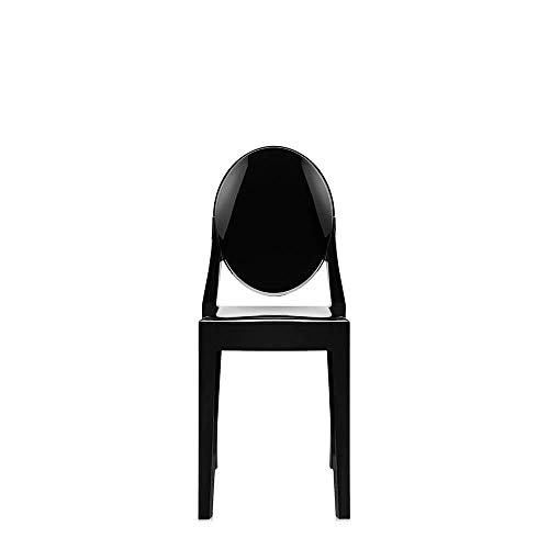 Kartell Set 2 Victoria Ghost Polished Black Chair