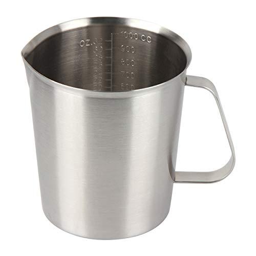 Kitchnexus Jarra medidora de acero inoxidable, jarra de leche para cocina, café,...