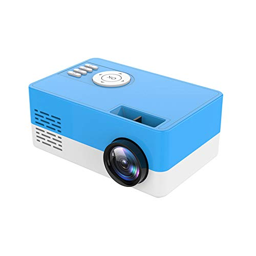 Saicowordist Mini Projector,Portable Projector Full HD 1080P LED Video Projector,50000 Hours Lamp Life LED Video Projector, Compatible with USB/HD/Sd/Av/VGA for Home Theater(Blue)