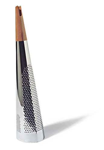Alessi'Todo' Giant Cheese And Nutmeg Grater in Steel And Wood, Silver