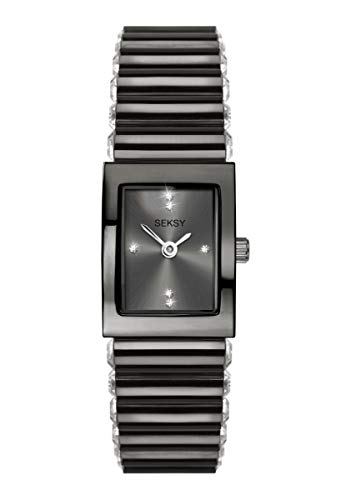 Seksy by Sekonda Edge 2948 Armbanduhr mit schwarzem Stein