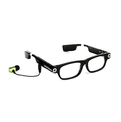 SMSOM Globos Inteligentes multifunción: Gafas de Sol con 720p HD Video Cámara Audio, Negro, con Conectividad Bluetooth (Color : B)