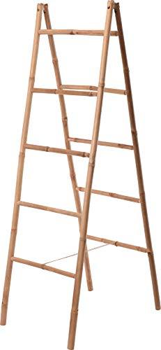 Handtuchhalter aus Bambus Holz-Leiter Handtuch-Ständer Klappleiter Dekoration Klappbar V060