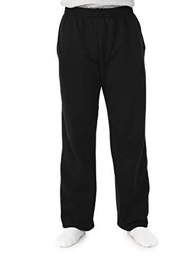 Fruit of the Loom Men's Fleece Sweatpants, Black, X-Large