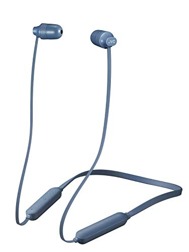 JVC Marshmallow Wireless, Earbud Headphones, Water Resistance(IPX4), 8 Hours Long Battery Life, Secure and Comfort Fit with Flexible Soft Neck Band and Memory Form Earpieces - HAFX35BTH (Misty Gray)