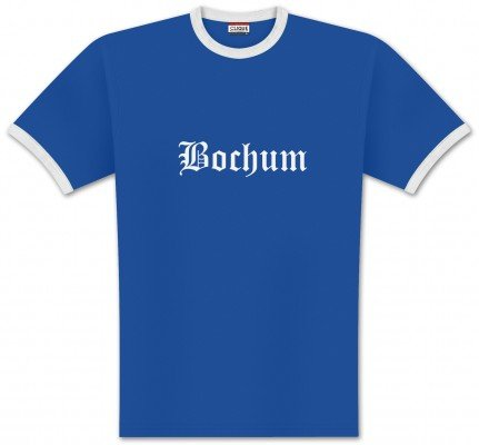 World of Football Ringer T-Shirt Old Bochum - L