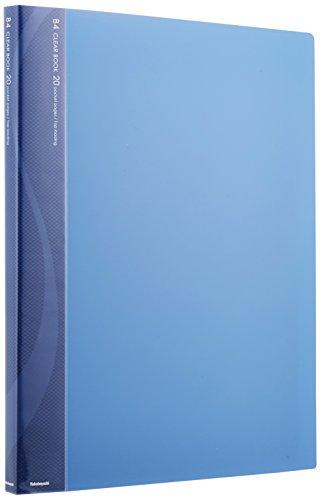 ナカバヤシ B4クリアブック クリアファイル 20ポケット ブルー CB1022B-N