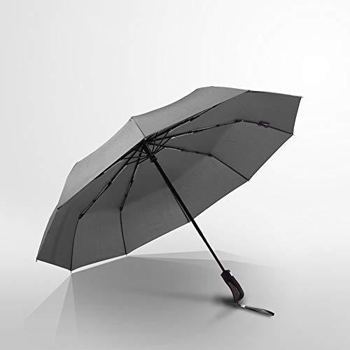 Regenschirm Taschenschirm Sturmfest + Auf-Zu Automatik Schirm-Tasche, Schwarz | Herren Damen Kinder Reiseschirm - Kompakt
