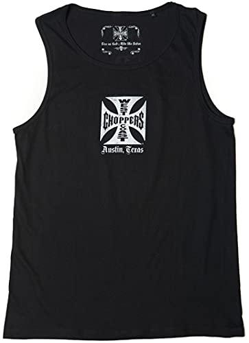 West Coast Choppers Camiseta de tirantes clásica., Negro , XXXL