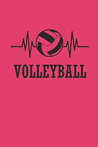 VOLLEYBALL: Notizbuch für Volleyball Spieler Notebook Journal karo 6x9 kariert squared