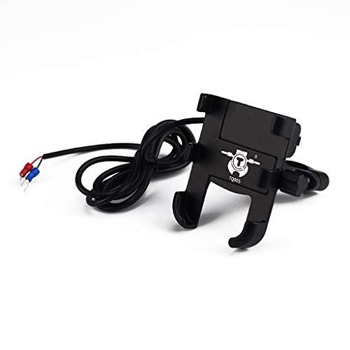 Handy-Halterung für Motorrad und Roller, mit USB-Ladegerät, Handy-Halterung mit Schwanenhals, Handy-Clip für Schreibtisch, Handy-Halterung für Bett, flexible Halterung