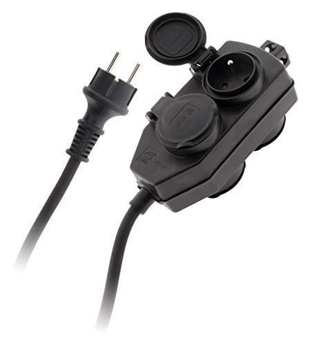 Zenitech verdeeldoos 4 stopcontacten IP44 – kabel 3G 1,5 H07RN-F – lengte 5 m NF