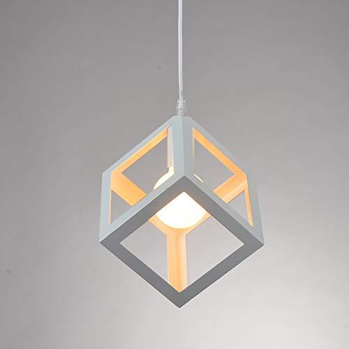 Pendelleuchte E27, kreative Kronleuchter, Metall, Retro-Würfel, 17 cm, 1 Stück für Esszimmer, Wohnzimmer (Glühbirne ist nicht im Lieferumfang enthalten)