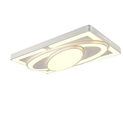 JINPIN Plafoniera 78W Dimmerabile Spacecraft LED Panel Lampada da soffitto Soggiorno camera da letto Risparmio energetico Illuminazione interna (W-78W)