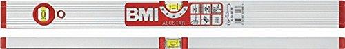 Waterpas ALUSTAR 691M L.180cm aluminium. zilver f.elox. M. magneet max.0,5 mm/m BMI