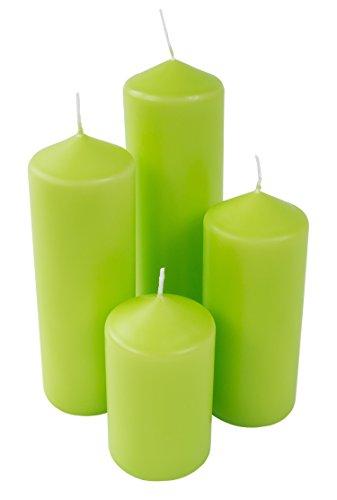 Juego de 4Farol Verde Vela (Adviento vela Chimenea Altar Vela Vela