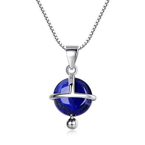 COAI Collar para Mujer en Plata 925 con Colgante Esfera Satélite en...
