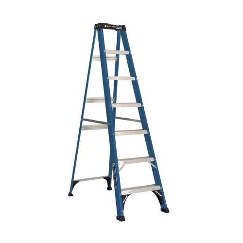 Louisville Ladder 7-Foot Fiberglass Step Ladder, 225-Pound Capacity, Type II, W-3217-07