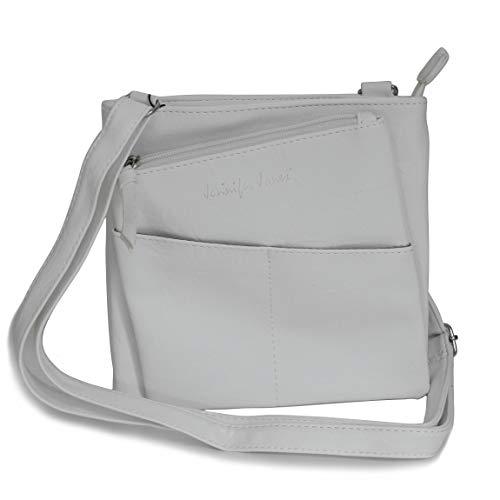 Jennifer Jones - kleine -DamenHandtasche Clutch Umhängetasche Abendtasche Ausgehtasche Schultertasche (Weiß) - präsentiert von ZMOKA®