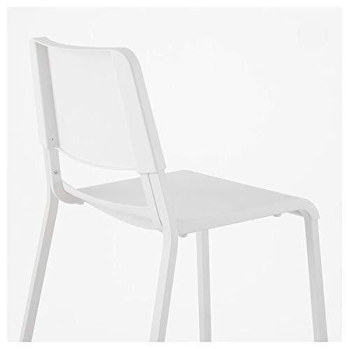 MELLTORP/TEODORES Mesa y 2 sillas, color blanco, 75x75 cm, resistente y fácil de cuidar. Conjuntos de comedor de hasta 2 plazas, mesas y escritorios, muebles respetuosos con el medio ambiente