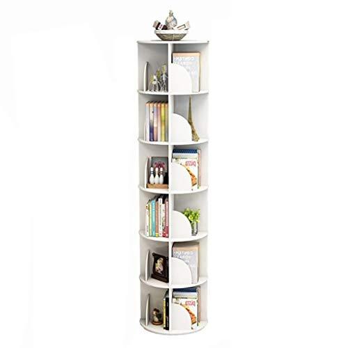 Bibliothèques Rotative À 360 Degrés Moderne Simple De Plancher De Table Multicouche D'étudiant d'angle De Salon...