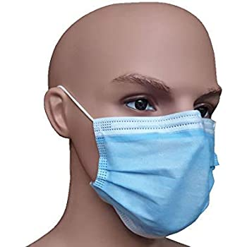 Intermarket IM Safe 3 Ply Non-Woven Disposable Surgical Face Mask with Nose Clip, Pack of 50 pcs