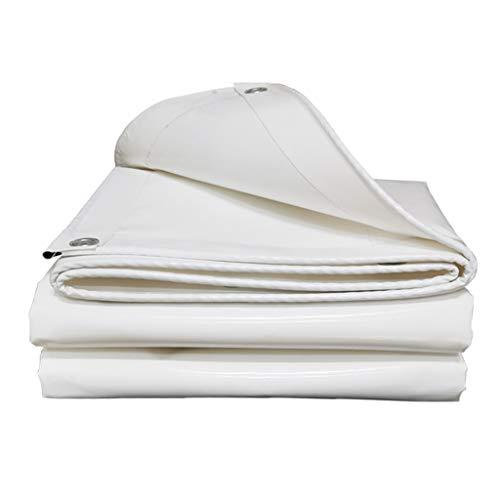 Universal Tarp cover Waterproof White Tarpaulin Sheet Multi-Purpose Heavy Duty Tarp Foldable Plant Canopy Rainproof Cover with Metal Eyelets