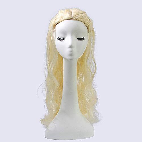 Movie Game of Thrones Een Lied van IJs en Vuur Daenerys Targaryen Dragon Moeder Cosplay Pruiken for alle huid Vrouwen, 65cm lang krullend haar hoge temperatuur vezel Pruik themafeest Wig