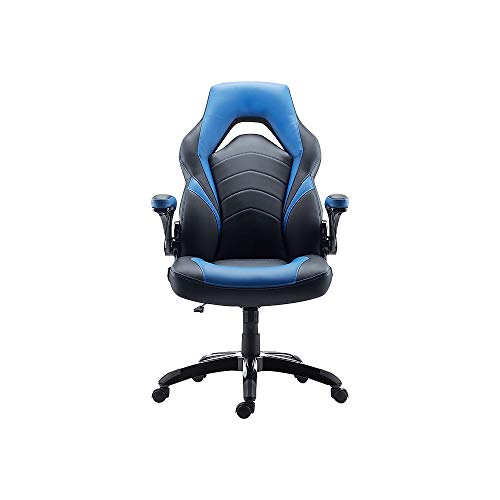 STAPLES 2710764 Gaming Chair Black and Blue blue chair gaming