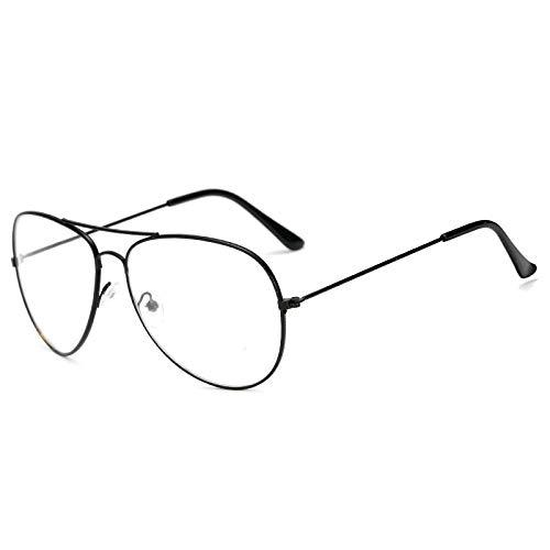 Gafas De Sol Polarizadas Gafas Clásicas Hombres Mujeres Lentes Transparentes Gafas De Metal Transparente Montura Óptica Óptica Miopía Anteojos Negro