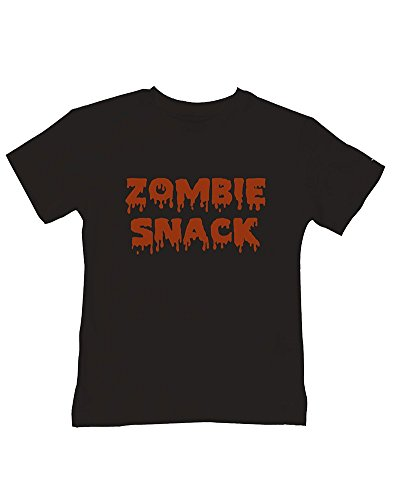 Ice-Tees T-shirt en coton doux avec inscription « Food for the Undead » - Noir - 2-3 ans