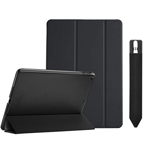 ProCase iPad 9.7 Case 2018 iPad 6th Generation Case / 2017 iPad 5th Generation Case Bundle with Pencil Holder Sticker for Apple Pencil 1st and 2nd Gen