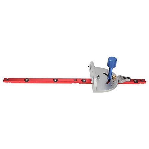 Guía de ingletes, calibre de ingletes, regla de sierra de mesa de precisión para sierra de mesa de carpintero con tolva deslizante modelo 30/45