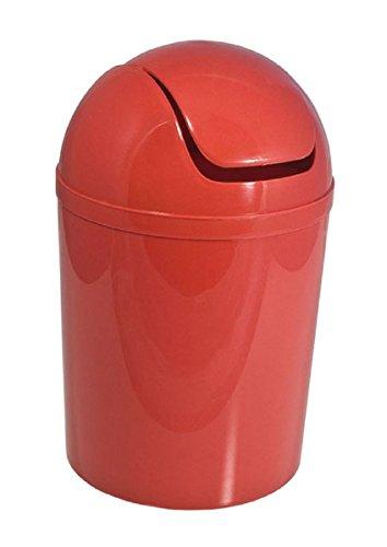Carpemodo Kosmetikeimer mit Schwingdeckel 5,5 l Volumen Rot
