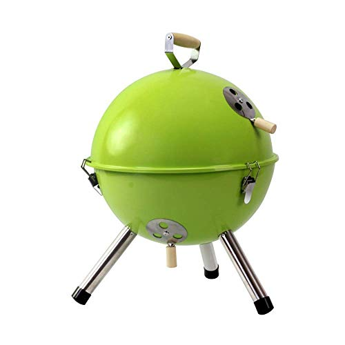 New Zjnhl Family Gathering/Small Barbecue Mini Round Barbecue Grill Portable Charcoal Barbecue Rack ...