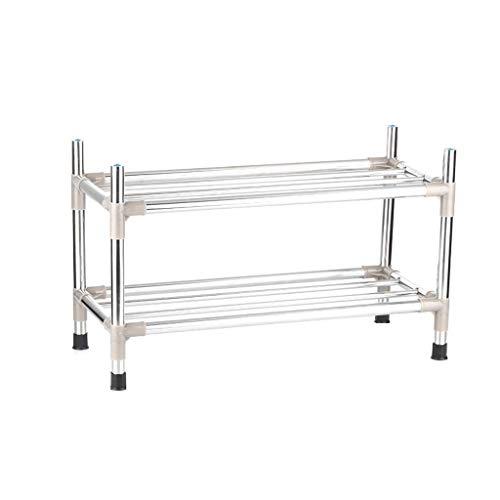 CHGDFQ Zapatero de acero inoxidable reforzado con varias capas para el hogar, montaje simple, soporte de carga, resistente y duradero, estante multifuncional que ahorra espacio (tamaño: 3-L-43 cm)