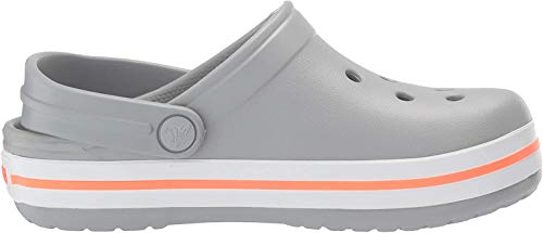 crocs Unisex-Kinder Crocband K Clogs, Grau (Light Grey-Bright Coral), 32/33 EU