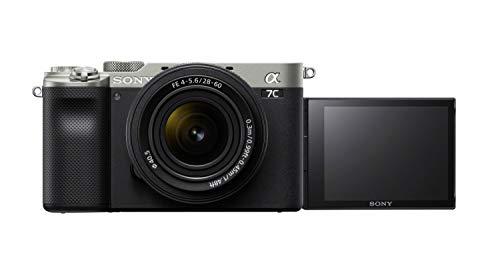 Sony Alpha 7 C - Cámara evil de fotograma completo con objetivo zoom Sony FE 28-60 mm F4-5.6 (Incluye: SEL-2860, enfoque automático a tiempo real, 24.2 mp, sistema de estabilización de 5 ejes) Plata