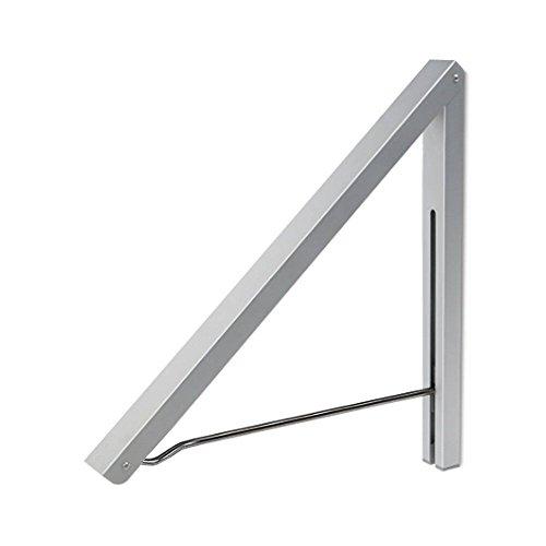 Anjuer, stendibiancheria pieghevole, appendiabiti da parete in alluminio e acciaio inossidabile, salvaspazio, ideale per la casa, colore: argento, alluminio, Silver, wall rack
