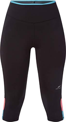 Pro Touch Damen 3/4 Coralina II Leggings, Black/Turquoise/R, 40