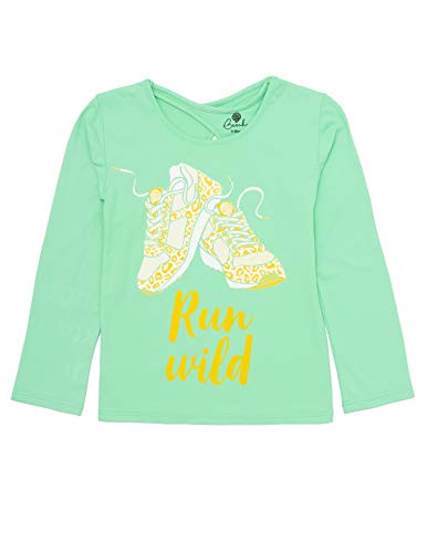 Beech Run Wild Girls Long Sleeved Top for Football, Tennis, Multi-Sports and Sports Parties, Multiple Sizes (7-8 Years) Green