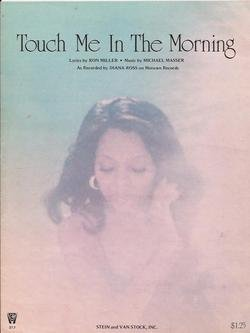 Touch Me in the Morning Diana Ross Vintage Original Sheet Music