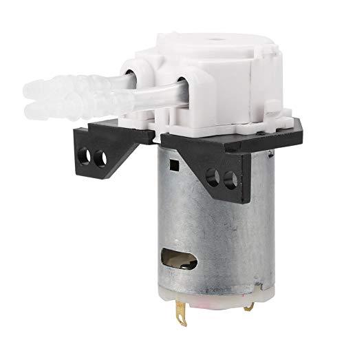 Bomba de dosificación perisáltica CC 12 V/24 V – Cabezal de tubo peristático para análisis químico de laboratorio de acuario (blanco12 V, 3 x 5)