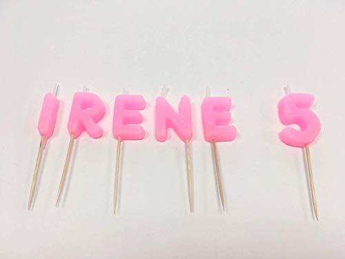 Velas de cumpleaños personalizadas. Escoge el nombre, edad y el color de las velas.