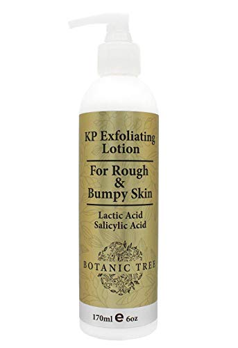 Botanic Tree KP Glycolic Acid Body Lotion - Keratosis Pilaris Treatment Body Lotion with Salicylic Acid, Lactic Acid - Exfoliating KP Alpha Hydroxy Acid (AHA) Peel Skin Care Lotions for Acne, Rough & Bumpy Skin- Fragrance Free.