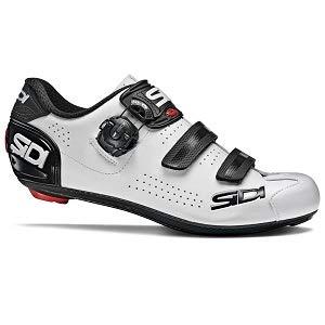 Sidi Alba 2 - Zapatillas de Ciclismo para Hombre, Color Blanco y Negro, Talla 43,5