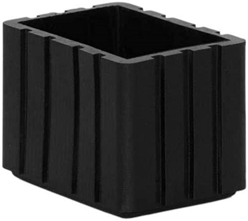 MWKLW 12 Tapas rectangulares para Patas de Silla, Protectores de Piso de Silicona duraderos, Fundas para pies de Mesa de Muebles, 1'X 2' (25 x 50 mm)