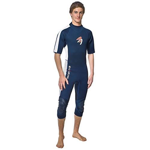 ASCAN Damen Herren Neoprenanzug kurze Arme 2.5 mm halblang, Größe:52 (herren)
