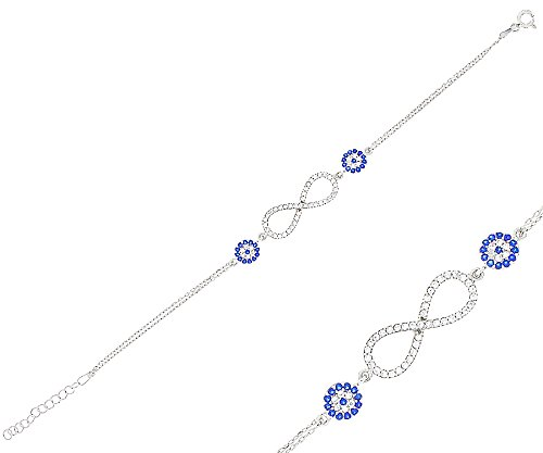 Pulsera para mujer infinity con Nazar armuletten de plata 92516–19cm 20172