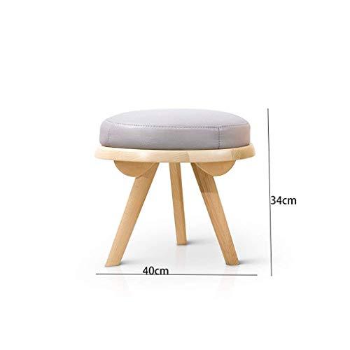 AXCJ Kleiner Sitz nordische Art-Moderne Möbel-Kleine Schemel-hölzerne Farbe-Feste hölzerne Wohnzimmer-Reihe kreativer Schemel, Ruhe-Bereich Durchmesser 40Cm
